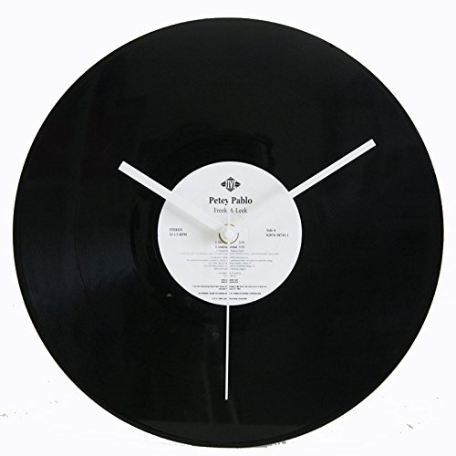 AKAHA Vinyl Record Wall Clock 12-Inch- Get Unique Bedroom or Nursery Wall Decor - Gift Ideas for Kids and Teens -Unique Art Design - White Color Sticker