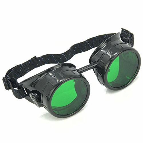 Steampunk Mad Scientist Goggles Rave Meme Glasses Costume Party Accessories- Gift Favor Green ()