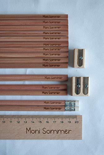 Schüler-Set mit 18 Teilen Stifte,Holzlineal, Spitzer