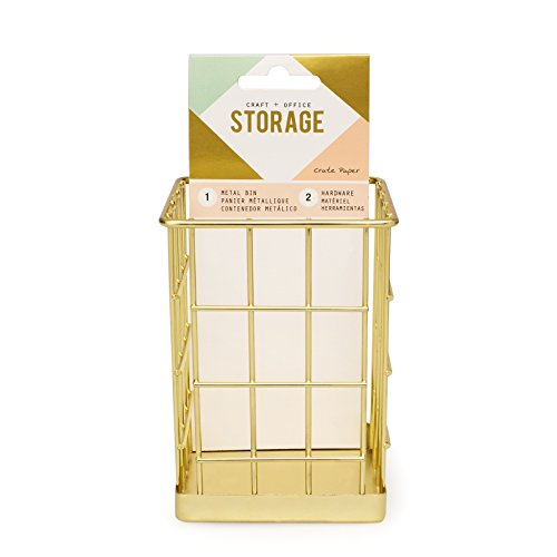 American Crafts 375796 Small Bin Crate Paper Wire System Storage Small Bin
