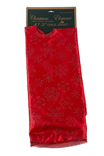Christmas Victorian Tree - Tree Skirt with Glitter Pattern Embellishments - Assorted Designs - 1 Piece - 47.2 Inches