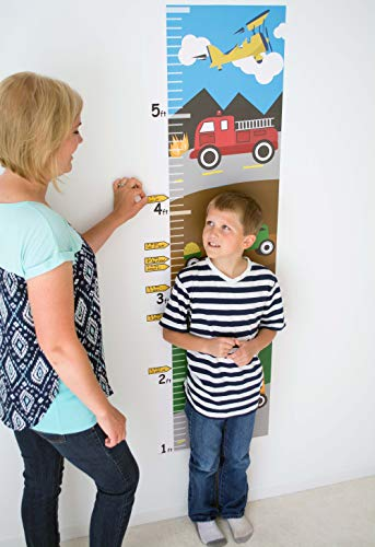 - Growth Chart For Kids - Tractors Growth Chart Decal - Height Chart For Kids Vinyl Decal - Construction Nursery Wall Decor - Height Measurement For Kids - Kids Height Wall Chart