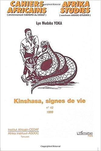 KINSHASA, SIGNES DE VIE (French Edition): Lye Mudaba Yoka ...