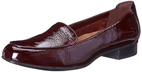 Burgundy Clarks Women's Luca Keesha Patent Leather Pumps 6CvIqw1C