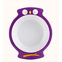 sea-junop Baby Kids Infant Cute Cartoon Owl Feeding Food Bowl