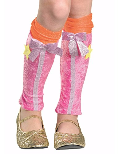 Winx Club Costumes - Winx Club Stella Leg Covers, Pink/Orange, One Size