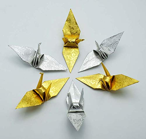 Amazon.com: 100 Origami Crane in Gold and Sliver With Rose ...