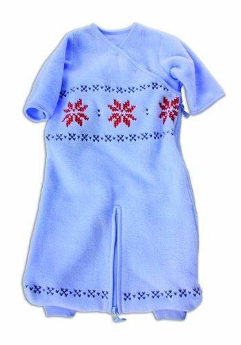 Baby Boum - 1,7 TOG Micro transpirable Invierno saco de dormir polar cum Mono Todo En Uno azul celeste Talla:9 meses: Amazon.es: Bebé