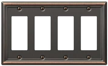 Amerelle AmerTac 149RRRDB Chelsea Steel Triple Rocker-GFCI Wallplate Aged Bronze