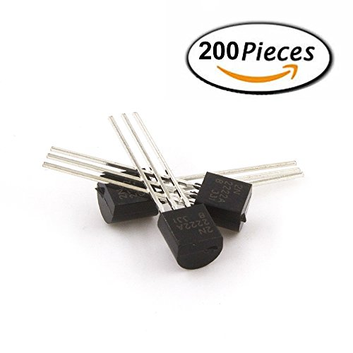 2N2222 TO-92 Plastic-Encapsulate Power Transistors NPN 600mA 75V 1 Pack