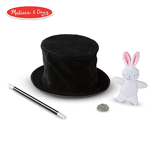 Melissa & Doug Magic in a Snap! Magician's Pop-Up Hat with Tricks (Illustrated Instructions, 4 Pieces) -