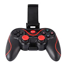 WinnerEco T3 Wireless Bluetooth Gamepad Gaming Controller with Handle Mount for Android Smartphone Smart TV (Black)