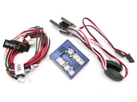 LED Lighting Kit for Cars and Trucks 1/10th Scale and Smaller (Cat Racing Red Receiver)