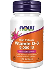 Now Foods Vitamin D-3, 1,000 IU, Softgels, 180ct