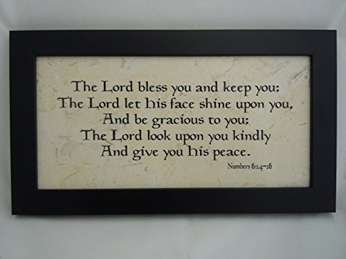 Holy Land Stone Company Priestly Blessing Numbers 6:24-26 - 6x12 Framed Plaque