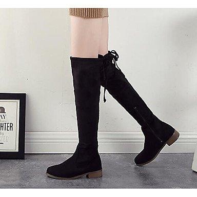 Ch & Tou Femmes-bottines-loisirs-autres -peau Noire-noir / Tissu Amande, Us7.5 / Eu38 / Uk5.5 / Cn38