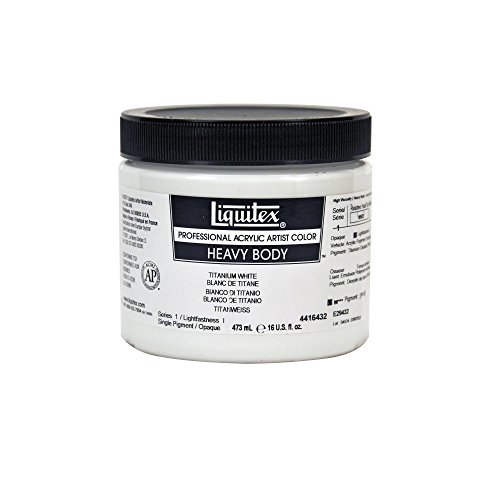 Liquitex Professional Heavy Body Acrylic Paint 16-oz jar, Titanium (Blick Artists Acrylic)