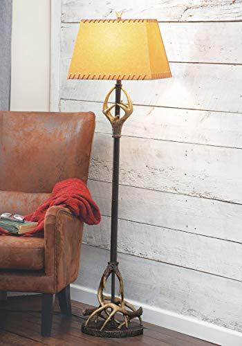 BLACK FOREST DECOR Buck Mountain Antler Floor Lamp