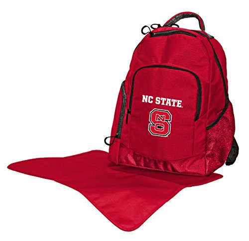 (NCAA College North Carolina State Wolfpack Diaper Backpack, 17 x 13.5 x 7-Inch, Red)