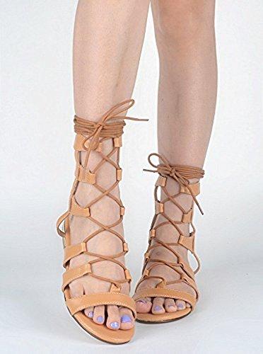 Kolnoo - Sandalias Romanas Mujer marrón