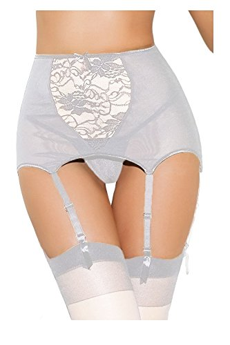 Shangrui Mujer Encaje Impreso Eslinga Calzones(FZSCLS0807) Plata