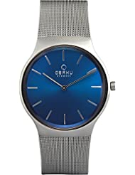 OBAKU V178GXCLMC Men's Blue Dial Classic Analog Watch with 3 Hands Date