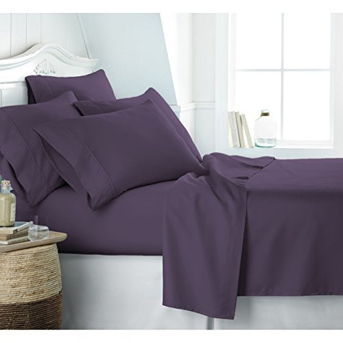 Reliable Bedding Hotel Collection Bed Sheet Set - Deep Pockets, Wrinkle and Fade Resistant, Hypoallergenic Sheet and Pillow Case Set - (Queen, White)