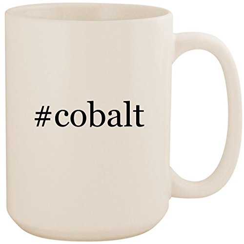 - #cobalt - White Hashtag 15oz Ceramic Coffee Mug Cup