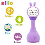 Alilo R1+ Shake and Tell Advanced Educational Baby Rattle Smart Bunny w/7 Features Learning Number, Alphabet, Music Note, Sleeping Nursery Rhyme, Repeat, Interactive Game, illuminating Ear R1P, Purple
