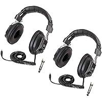 Califone 3068AV Switchable Stereo/Mono Headphones 2-Pack Bundle