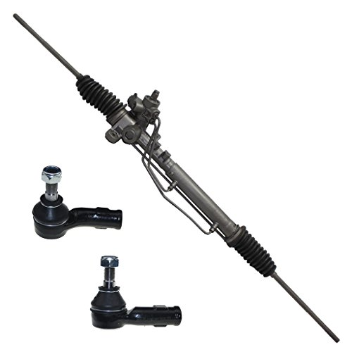 Detroit Axle Complete Power Steering Rack & Pinion Assembly + All 4 Inner & Outer Tie Rod - Volkswagen Pinion Rack