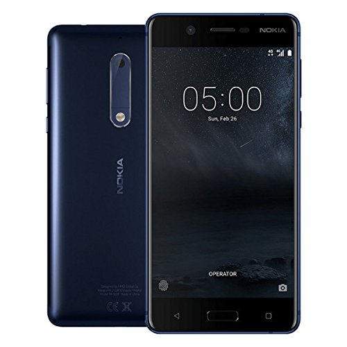 Nokia 5 16GB Android Factory Unlocked 4G/LTE Smartphone (Tempered Blue) - International Version