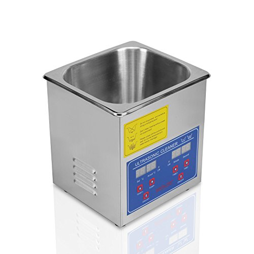 FoodKing Ultrasonic Cleaner Ultrasonic Cleaner Jewelry Ultrasonic Jewelry Eyeglass Commercial Industrial with Digital Heater Timer (1.3 Liter) by FoodKing (Image #4)