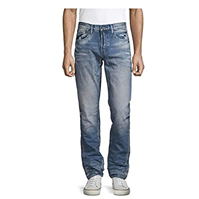7 For All Mankind Men's Paxtyn Slim Straight Denim Jeans (Enterprise Blue, 36): Clothing
