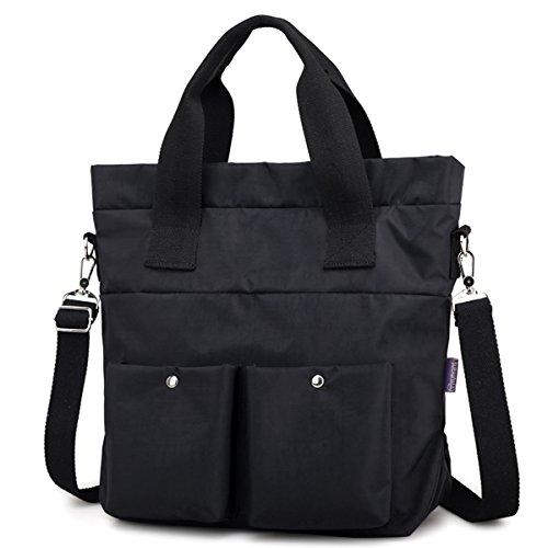 Women Nylon Shoulder Bag Satchel Handbag, Myhozee Water Repellent Travel Work Tote Bag Cross body Bag by Myhozee (Image #2)