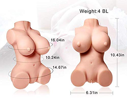 3D Lifelike Love Doles for Man Male Adult Toy Soft Silcone Women Full Body C Cup Torso Pussycat Love Toy for Men 100% Safe Men's Best Relaxing Gifts (10x6.2x4 in) by GOONANA (Image #6)