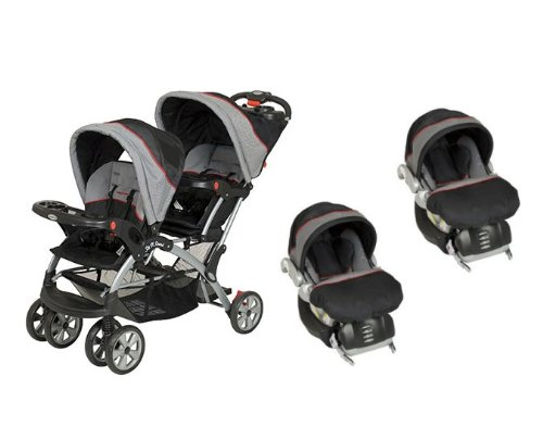 Twin Baby Stroller Travel System - 7