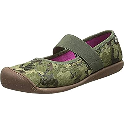 Keen Womens Sienna Canvas Camouflage Mary Janes Green 6.5 Medium (B,M)