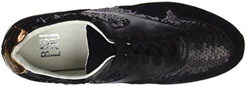 Negro lou con Lentejuelas Mujer Negro Zapatillas Bibi Deportivo para P81xa1q
