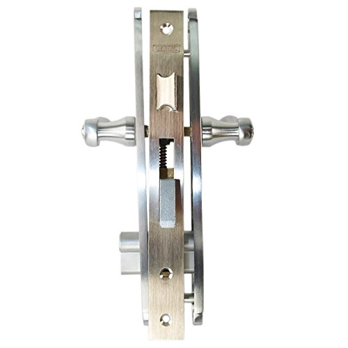 Marks Thinline Slim Line 2750C/26D Satin Chrome Right Hand Mortise Entry Lever Plate Trim Set Lockset Double Cylinder Lock Set by Marks USA