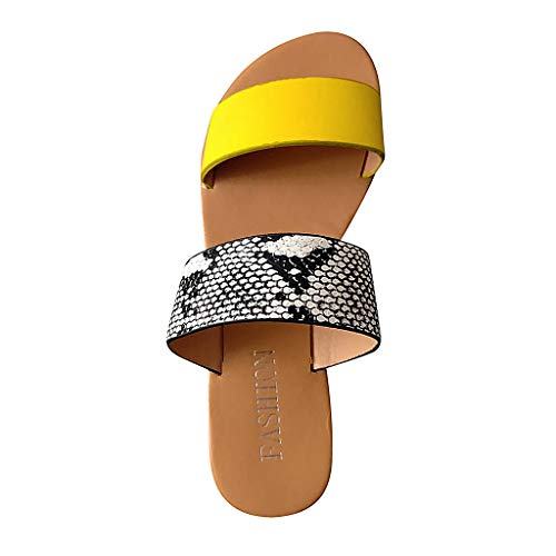 Casual Flat Sandals for Women, Huazi2 Summer Vintage Plus Size Slippers Shoes