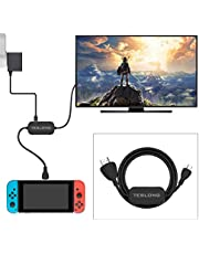 Type C to HDMI Cable,Teslong CH100 USB C to HDMI Cable with USB 3.0 and Type-C PD Charging Port for Nintendo Switch, MacBook, Chromebook, Surface Book, Samsung S8/S9(1M)