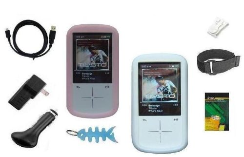 9 Items Accessory Combo Kit for Sandisk Sansa Fuze+ Plus 4GB