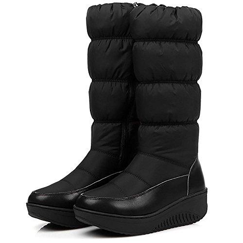 impermeabili black da ginnastica SHANGXIAN da con neve suola rivestiti Stivali Stivaletti donna Stivaletti antiscivolo YrXOXwq8x