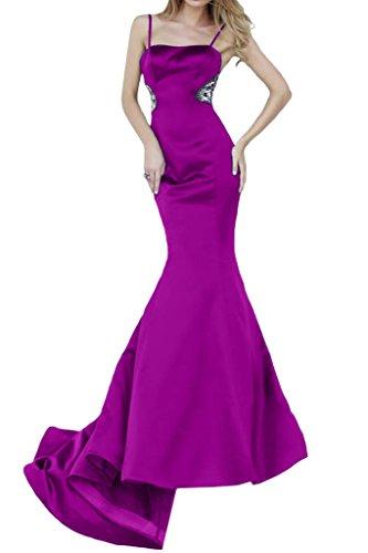 Bete vestimento da polsini strette viola Satin 40 Lunga un'ampia spalline dell'abito con donna Mermaid Ivydressing Snf87g