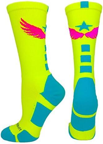 MadSportsStuff Light Speed Athletic Crew Socks (Multiple Colors) – starkidslearn.com