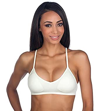 ee4c57c1393e9 Anemone Women s Seamless V-neck Padded Bra w Adjustable Straps at ...