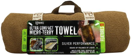 McNett Tactical Ultra-Compact Micro-Terry Towel, Large, Coyote
