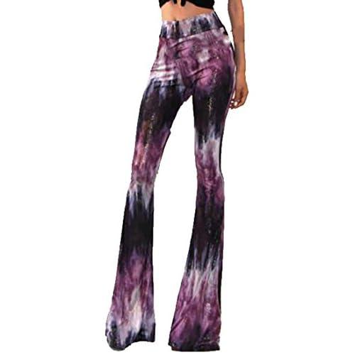 2f1fa24448a 60%OFF YUNY Women Slim Fit Mid-waisted Printed Wide Leg Pants Long Pants