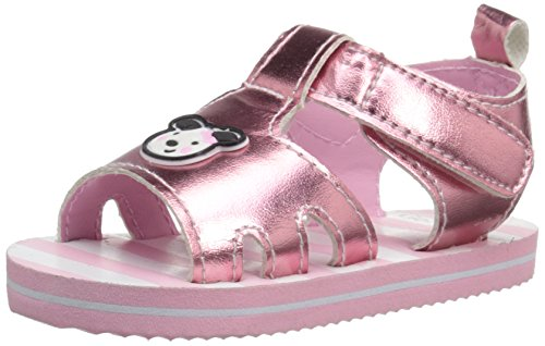 Gerber Baby Pink Puppy Velcro Sandals, Pink, Size 3 M US Baby US/US
